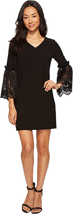 Tahari by ASL - Petite Lace Bell Sleeve Shift