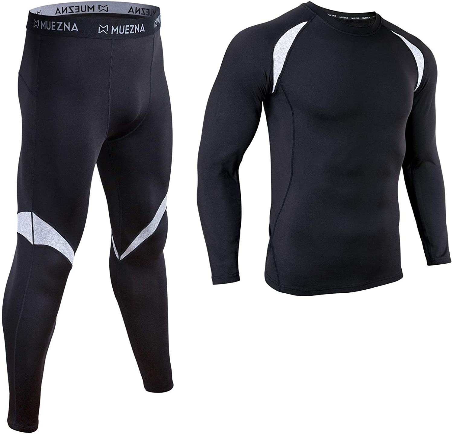 Men's Thermal Top and Bottom Set Underwear Long Johns Base Layer with Soft Fleece Lined…