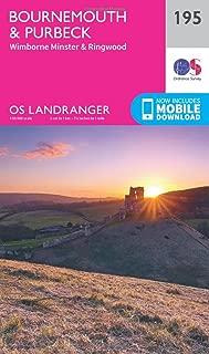 ORDNANCE SURVEY Landranger 195 Bournemouth & Purbeck, Wimborne Minster & Ringwood Map with Digital Version