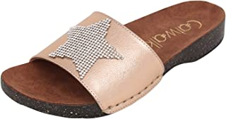 Catwalk Rose Gold Flat Slip On