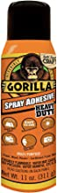 Gorilla Heavy Duty Spray Adhesive, Multipurpose and Repositionable, 11 ounce, Clear (Renewed)