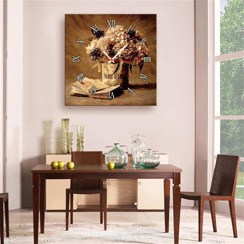 Precio al por mayor y calidad confiable. YueQiSong Moderno Minimalista luz Creativa Estilo Moderno Moderno Moderno Lienzo Pintura salón Flor Naturaleza Muerta Reloj de Parojo Lienzo 1 Unids  Obtén lo ultimo