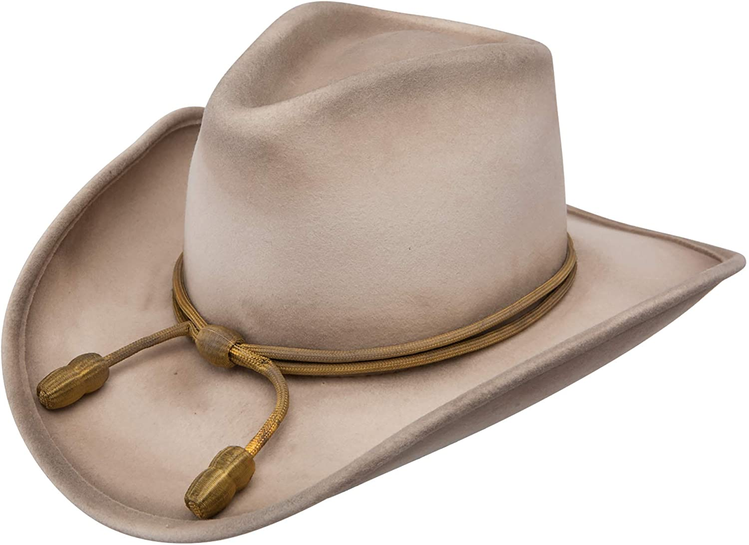 Stetson Men's Fort Crushable Wool Leather Hatband Cowboy Hat - Silverbelly