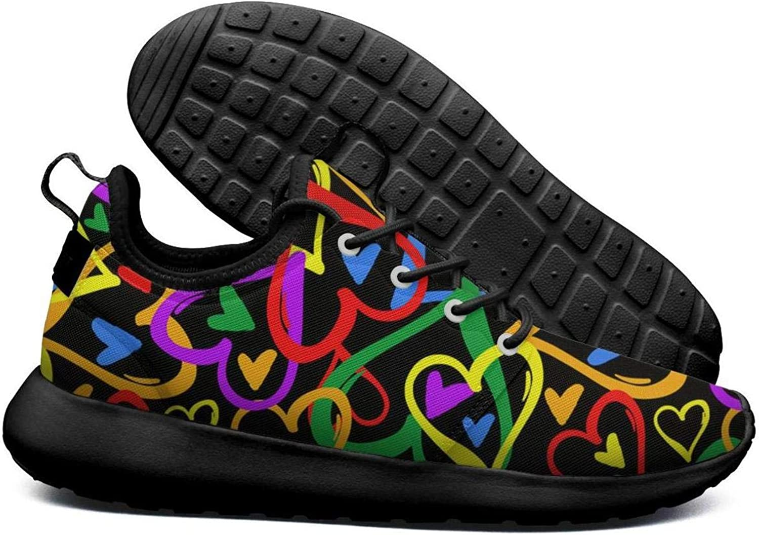 Opr7 Gay Pride Rainbow colord Hearts- Running shoes Lightweight for Women Sneaker Sport Quick Dry