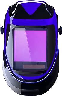DEKO Casco de Soldadura Automática por Energía Solar de Profundidad Profunda Casco de Oscurecimiento con Pantalla de Gama Amplia de Sombra Ajustable 4/9-13 para Mascarilla de Soldadura para Mig Tig