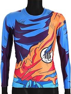 CoolChange Camiseta de Manga Larga de La Bola del dragón Super- Sayaijn, Talla: S