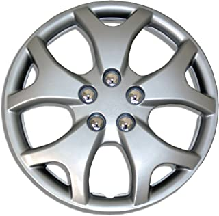 TuningPros WC-14-618-S 14-Inches-Silver Improved Hubcaps Wheel Skin Cover Set of 4