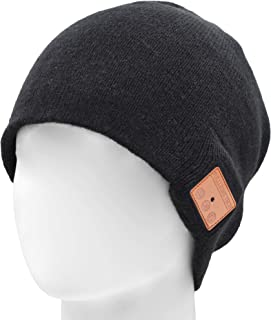 Upgraded Bluetooth Beanie Hat V4.2 Wireless Headphones Headset Music Hat Winter Knit Cap with Stereo Speakers & Mic Unique Christmas Tech Gifts for Women Mom Her Men Teen Boys Girls
