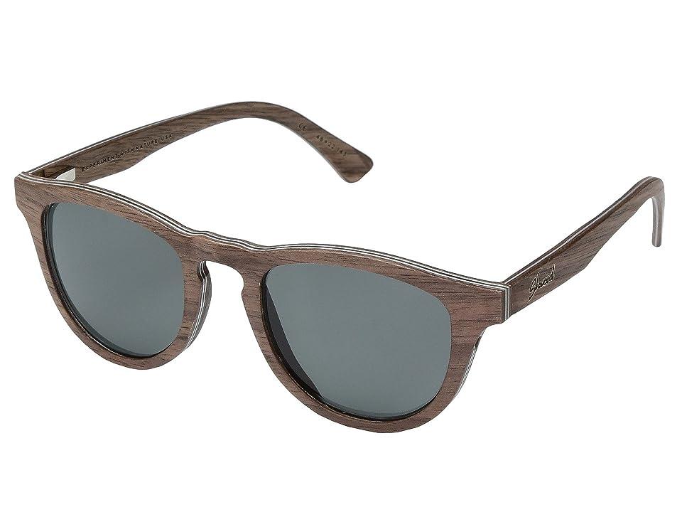 Shwood Francis Wood Sunglasses Polarized (Walnut/Grey Polarized) Polarized Sport Sunglasses