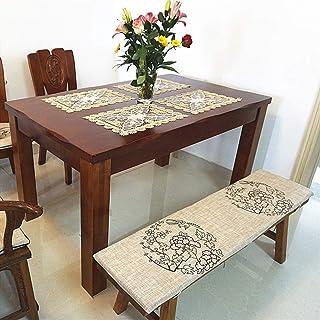 DIELUNY Cojines Largos Transpirables para Silla Mecedora, cojín de Banco Columpio Relleno para Interior y Exterior Esponja rellena para Muebles de Patio Almohadillas para sillas K 35x150cm (14x59in)