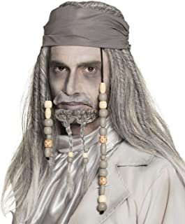 Boland Ghost Pirate Wig Beard and Moustache Fancy Dress Accessory for Halloween Party