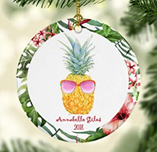 Georgia Barnard Pineapple Ornament for Christmas Personalized with Name and Year 3