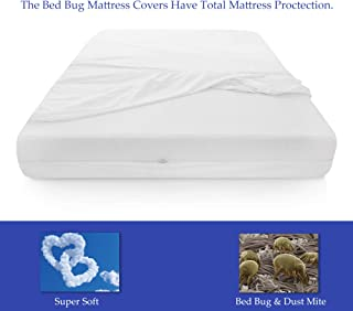 Continental Mattress, 6-9 Inch Box Spring Protector Covers Bed Bug Proof/Water Proof Fits Mattress, Queen Size