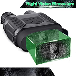 """Night Vision Binoculars in Full Darkness - Save Photos & Videos with Audio - 7x31mm Infrared Spy Gear for Hunting & Surveillance - 4"""" Large Screen & 1300ft Viewing Range"""