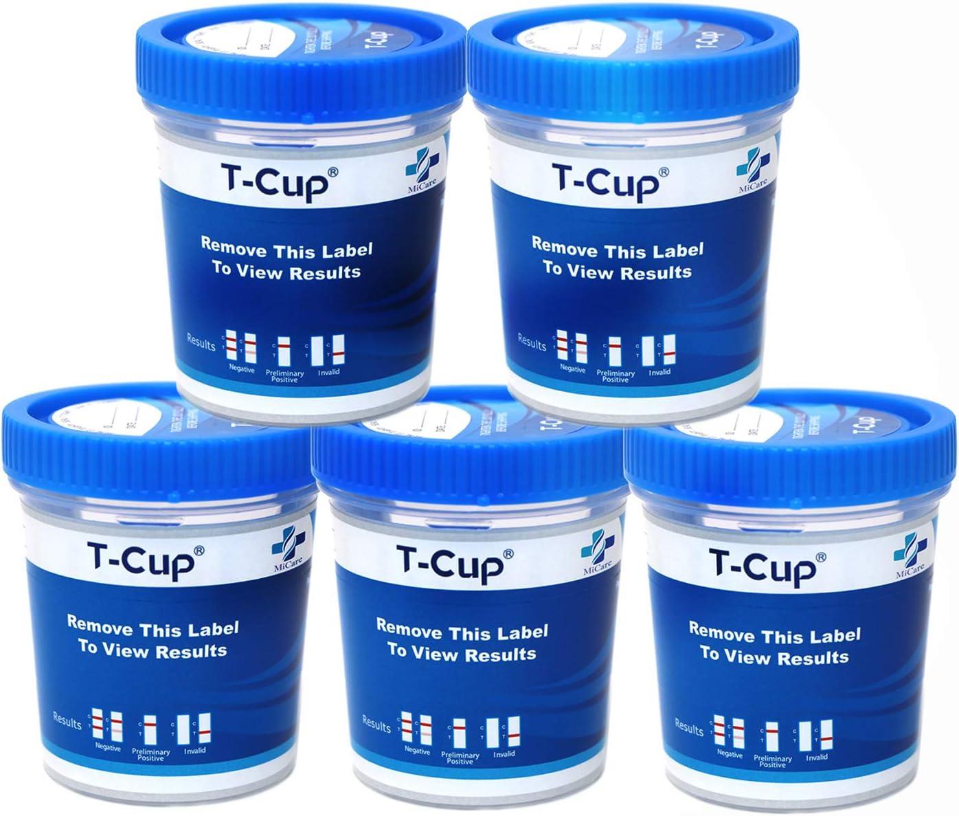 MiCare Max 77% OFF 5pk - 6-Panel Multi Manufacturer OFFicial shop Drug Test COC AMP OPI mAMP BZO Cup