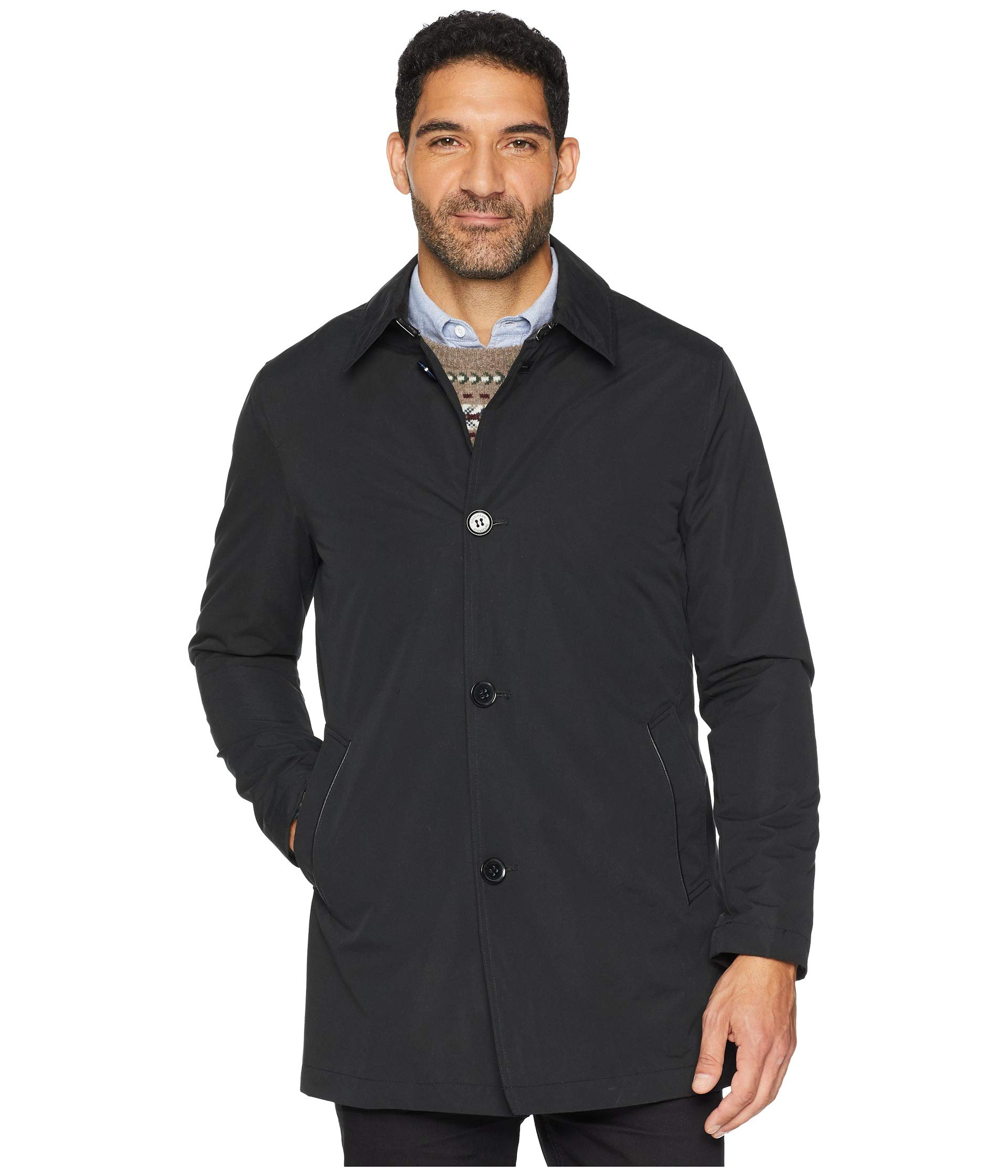 Button City With Cole Front Detachable Rain Black Liner Haan Carcoat vanaRqZxw