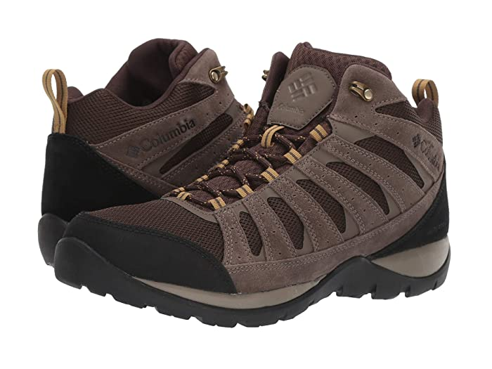 Columbia  Redmondtm V2 Mid Waterproof (Cordovan/Baker) Mens Hiking Boots