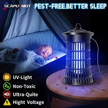 Bug Zapper Electric Mosquito Zappers Insect Killer Trap Mosquito Lamp 18W Light Bulb 4250V Insect Zappers with Brush Fly Trap