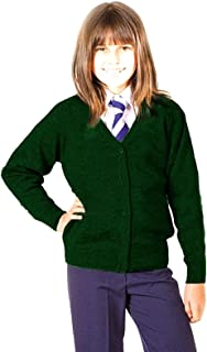 Girls School Cardigan Premium Wool Mix Knitted Cardigan School Uniform School Wear