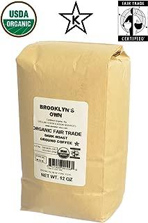 Organic Fair Trade Ground Coffee Dark Roast Blend, Fresh Packed to Order, 12-Ounce Bag