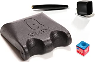Q Claw Black 2 Pool Cue Holder with Pocket Chalker