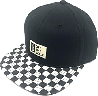 987f796a Vans Off The Wall Men's LA Snapback Hat Cap - Black/White Checkered