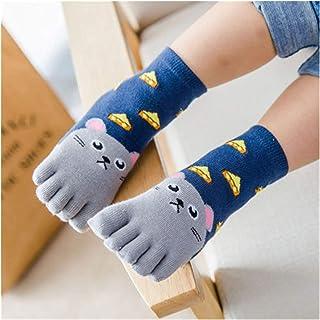 LiuQ, LiuQ Calcetines hasta Rodilla Niñas Calcetines para niños niños niños niños niños niños niños Cinco Dedos calcetín calcetín de Punta de calcetín 1 Pares Calcetines de bebé Niña