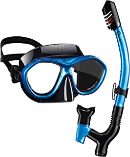 ست غواصی Dorlle با ماسک اسنورکل و ماسک ، ماسک ضد غبار و غواصی ضد نشت ، اسنورکل خشک 3 کاناله خشک شده برای غواصی ، ماسک اسنورکل ممتاز برای بزرگسالان