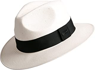 Gambler Panama Straw Hat Fedora Hats for Men Imported White Japanese Paper