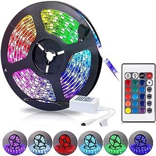 MR.3 led light strip 5m Color Changing 5050 Type Waterproof IP65 Led Strip Lights Kit with Remote &12V for Kitchen Bedroom...