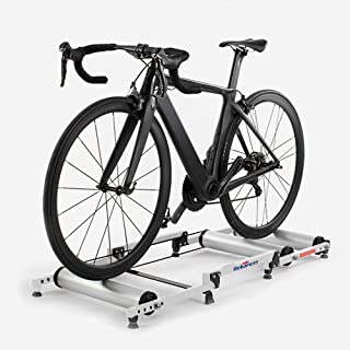Bicycle Trainer Rollers Aluminum Indoor Retractable Stationary Cycling Roller Exercise Fitness Stand Portable Foldable Bik...