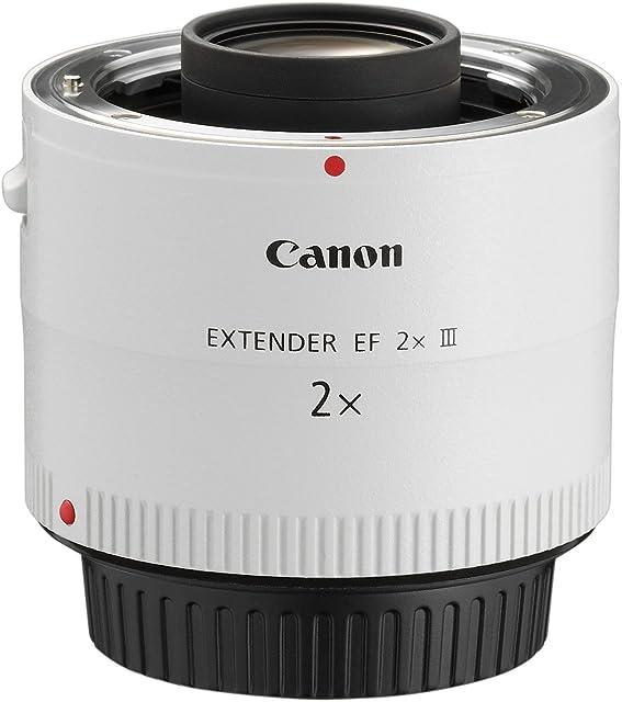 Canon EF 2X III - Adaptador para Objetivos de cámaras Canon EF Color Blanco