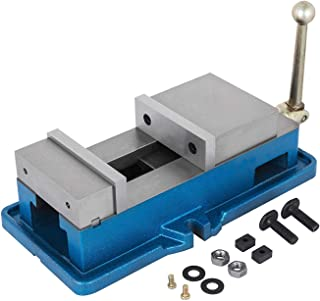 Happybuy 6 Inch ACCU Lock Down Vise Precision Milling Vice 6 Inch Jaw Width Drill Press Vise Milling Drilling Machine Bench Clamp Clamping Vice (6'')