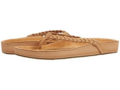 Sanuk She Loungy Braid Leather (Tan) Women
