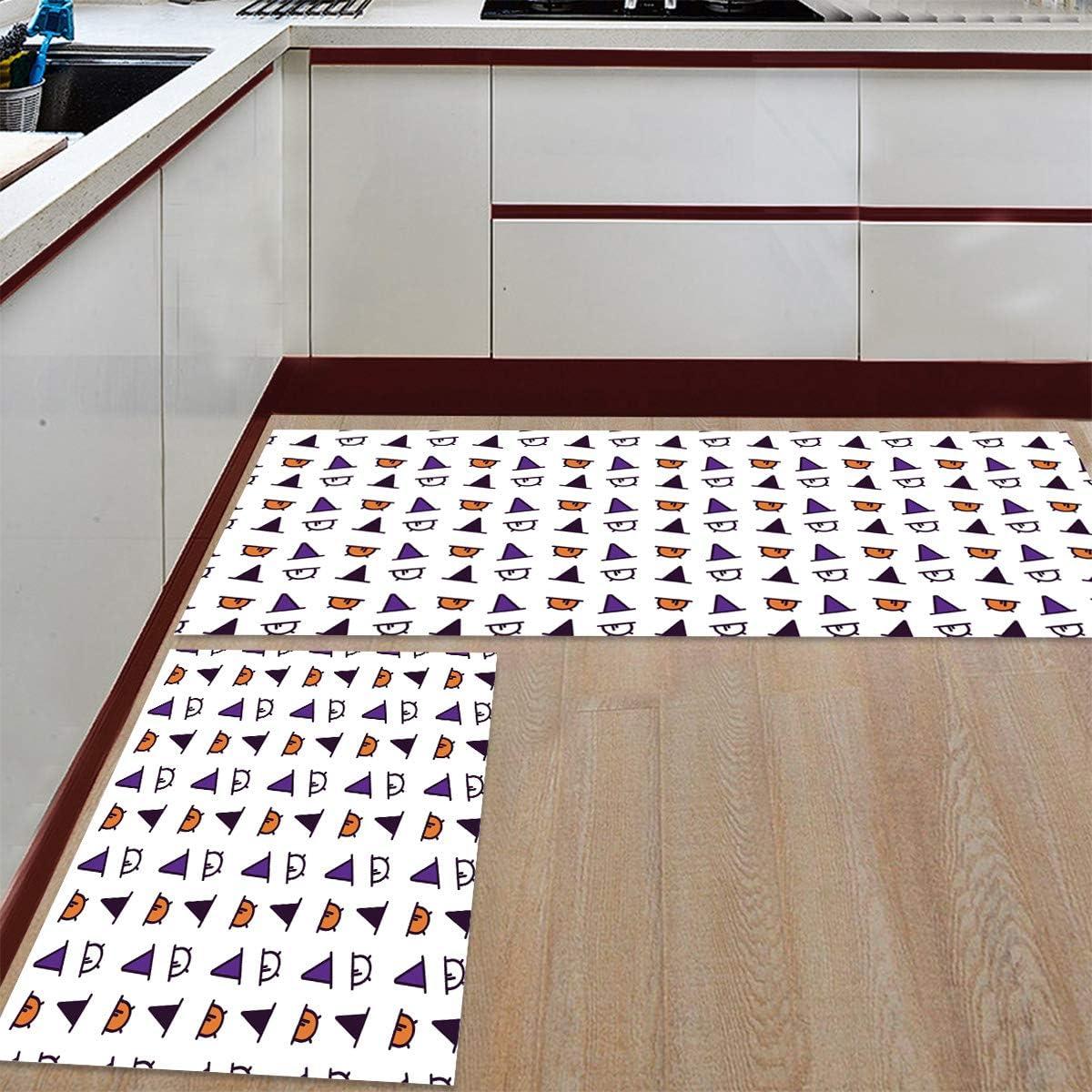 Superlatite Womenfocus Kitchen Mat Set Indianapolis Mall Anti-WearNon-Slip Rug 2 Pi Floor