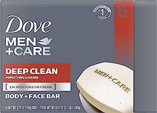 صابون بار مردانه Dove Men Care مرطوب کننده تر از صابون بار Deep Clean است که به طور موثری باکتری ها را می شوید ، پوست شما را 3.75 اونس و 14 بار تغذیه می کند