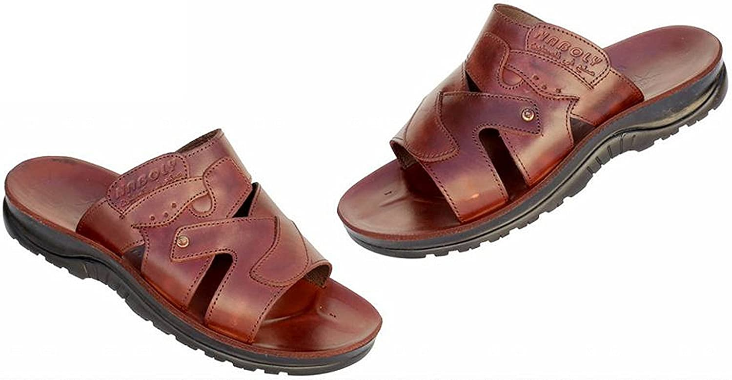 naboly Slippers for Men Sandals Mens Slides Shoes Leather Made in Hebron Palestine