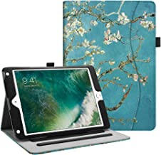 Fintie iPad 9.7 2018 2017 / iPad Air 2 / iPad Air Case - [Corner Protection] Multi-Angle Viewing Folio Stand Cover w/Pocket, Auto Wake/Sleep for Apple iPad 6th / 5th Gen, iPad Air 1/2, Blossom