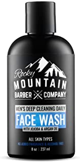 Face Wash Cleanser For Men - For Dry, Oily, Acne Prone Skin with Natural Sensitive Formula, Unscented for A...