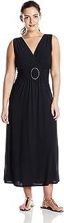 Star Vixen Women's Plus-Size Sleeveles O-Ring Maxi Dress