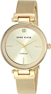 Anne Klein Women's Genuine Diamond Dial Mesh Watch, AK/3034