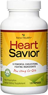 Sponsored Ad - New Health HeartSavior Lower Cholesterol and Heart Health Supplement - Plant Sterols and 60mg of CoQ10 - 12...
