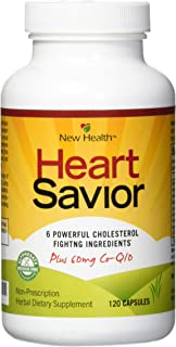 New Health HeartSavior Lower Cholesterol and Heart Health Supplement - Plant Sterols and 60mg of CoQ10 - 12...