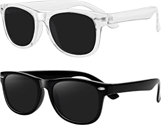 WOWSUN - Gafas de sol polarizadas para niños y niñas, flexibles, irrompibles, 2 unidades