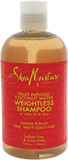 SheaMoisture Fruit Fusion Coconut Water Weightless Unisex Profesional Champú 384ml - Champues (Unisex Profesional Champú...