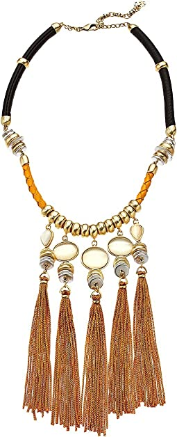 Silk Cord Statement Necklace
