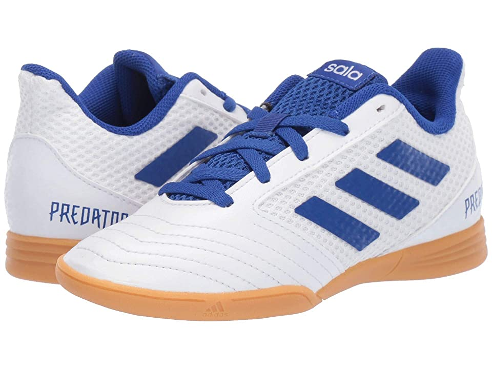 adidas Kids Predator 19.4 IN Sala Soccer (Little Kid/Big Kid) (White/Bold Blue) Kids Shoes