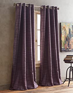 DKNY Derby Room Darkening Grommet Window Curtain Panel Pair