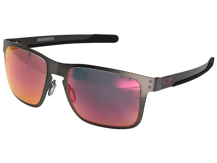 Oakley Holbrook Metal (Matte Gunmetal w/ Torch Iridium Polarized) Fashion Sunglasses