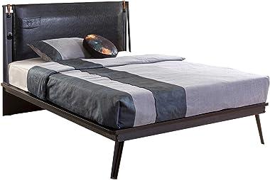 Cilek Dark Metal Bed Frame, Full, Black